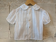 Load image into Gallery viewer, Delicate Antique Handmade White Blouse 6 Months