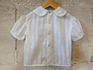 Delicate Antique Handmade White Blouse 6 Months