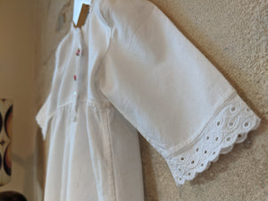 Stunning Antique Cotton Gown with Lace Trim 18 Months