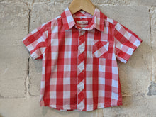Load image into Gallery viewer, Brilliant Red Checked Cotton Shirt 18 Months
