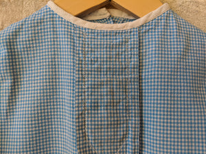 Wonderful French Handmade Antique Blue Tunic 18 Months