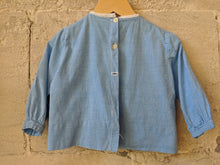 Load image into Gallery viewer, Wonderful French Handmade Antique Blue Tunic 18 Months