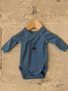 The Sweetest Petit Bateau Blue Wrap Bodysuit Newborn
