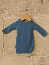 Load image into Gallery viewer, The Sweetest Petit Bateau Blue Wrap Bodysuit Newborn