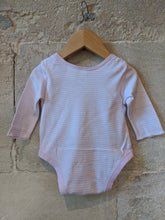 Load image into Gallery viewer, Baby Pink Striped Bodysuit 6 Months