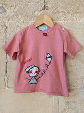 Load image into Gallery viewer, Cutest French Stripe Flying a Kite T Shirt 2 Years