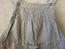 Load image into Gallery viewer, Beautiful french preloved kids clothing girls pleated linen natural dungarees 2-3 Years