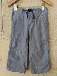 Bout'Chou Powder Blue Linen Trousers 18 Months