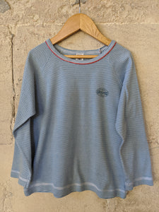 Petit Bateau Classic Striped Soft Blue Top 6 Years