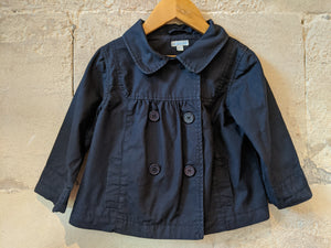 Double-Breasted Smart Navy Cotton Jacket 3 years