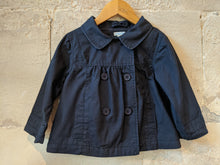 Load image into Gallery viewer, Double-Breasted Smart Navy Cotton Jacket 3 years
