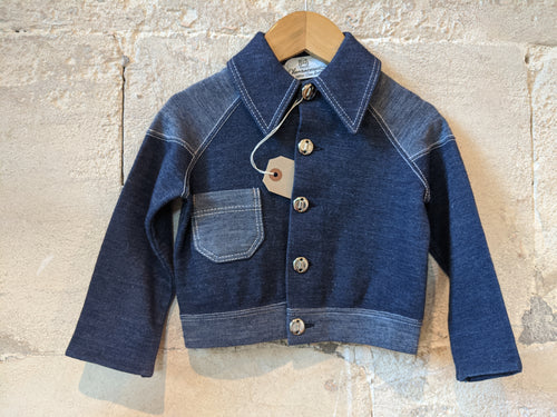 Amazing Vintage French Denim jacket Kids Preloved