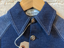 Load image into Gallery viewer, Amazing Kids French Vintage Denim Blue Cotton Jacket 70s Collar - Age 4