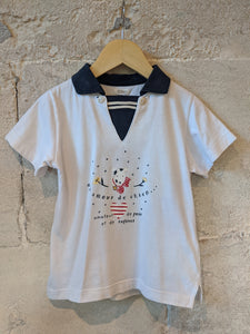 Catimini Sweet Nautical Style Dog T Shirt 4 Years