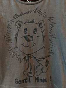 Super Soft Gentle Lion Khaki T Shirt 4 years
