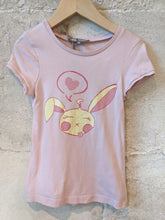Load image into Gallery viewer, FREE - Pale Pink Sleepy Bunny T-Shirt 4 Years