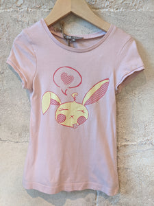 FREE - Pale Pink Sleepy Bunny T-Shirt 4 Years