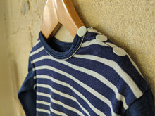 Load image into Gallery viewer, Vintage Petit Bateau Striped Navy Top 2 Years