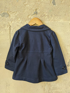 Beautiful French Navy Cotton Jacket 2 Years