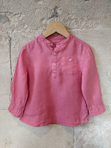 Wonderful French Linen Grandad Collar Shirt 2 Years