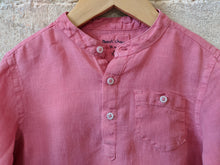 Load image into Gallery viewer, Wonderful French Linen Grandad Collar Shirt 2 Years