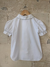 Load image into Gallery viewer, Stunning French Designer Vintage White Cotton Shirt - 9 Years