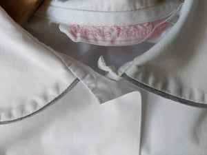 Stunning French Designer Vintage White Cotton Shirt - 9 Years