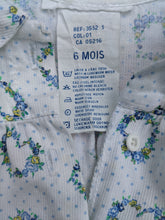Load image into Gallery viewer, Pretty Polkadot French Floral Vintage Dress - 6 Months