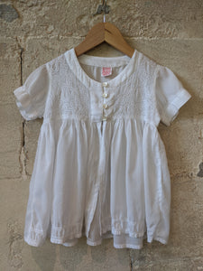 Stunning Lace Vintage Girl's Blouse Wedding Smart Occasion Sale 5-6 Years