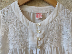 Lace Design Vintage Child's Blouse