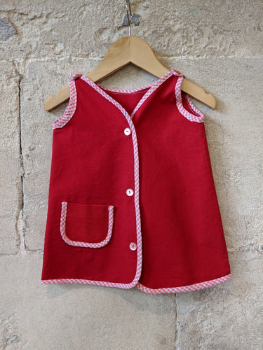 Red Vintage TUnic 18 Months