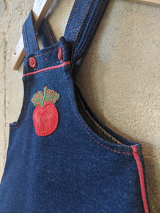 Amazing Retro Apple Pinafore Dress - 3 Months