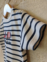 Load image into Gallery viewer, Weekend à la Mer Soft Stripe Tee Shirt - 6 Months
