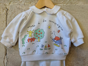 Super Cool Retro Rabbit Sweatshirt - 3 Months