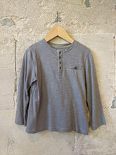 Load image into Gallery viewer, Classic Long Sleeved French Grey Cotton Top - 6 Years