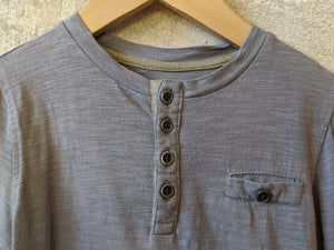 Classic Long Sleeved French Grey Cotton Top - 6 Years