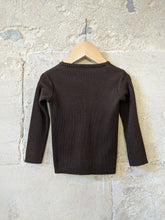 Load image into Gallery viewer, Stunning Vintage Chocolate Brown Rib Knit Cardigan - 12 Months