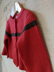 Gorgeous Petit Bateau Rib Knit Wool Blend Cardigan - 2 Years
