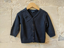 Load image into Gallery viewer, French Navy Grain de Blé Cardigan - 12 Months