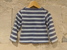 Load image into Gallery viewer, Fab French Wide Striped Cotton Top - 18 Months