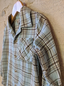 Super Soft Sky Blue French Checked Shirt - 18 Months