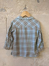 Load image into Gallery viewer, Super Soft Sky Blue French Checked Shirt - 18 Months