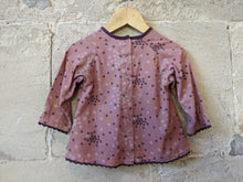 Load image into Gallery viewer, Soft Pink & Lavender Corduroy Tunic with Pretty Flower Print - 18 Months