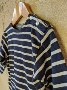Classic Petit Bateau Soft Striped Long Sleeved Top - 18 Months