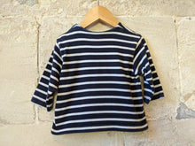 Load image into Gallery viewer, Classic Petit Bateau Soft Striped Long Sleeved Top - 18 Months