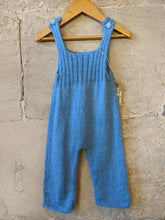 Load image into Gallery viewer, The Cutest Sky Blue Hand Knitted Dungarees - 3 Months