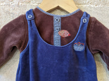 Load image into Gallery viewer, Gorgeous Velvety Soft Sleepsuit - Dungaree Style - Newborn