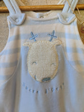 Load image into Gallery viewer, Sucre D'Orge Fleecy Soft Striped Reindeer Romper - 3 Months