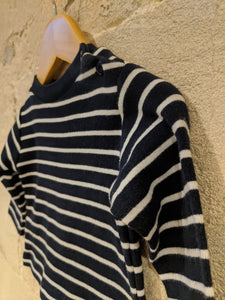 Classic Simple Warm Cotton French Stripes - 6 Months