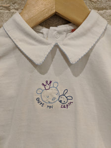 Soft Cotton Vintage Teddy Bear & Bunny Tunic - 6 Months